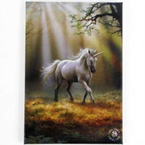 Anne Stokes- Glimpse Of  A Unicorn fridge magnet
